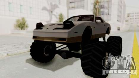 Pontiac Firebird Trans Am Monster Truck 1982 для GTA San Andreas вид сзади слева