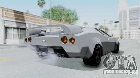 GTA Vice City - Infernus для GTA San Andreas вид сзади слева