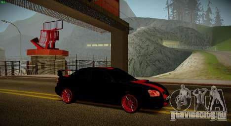 Subaru Impreza WRX STi Чёрная Бестия для GTA San Andreas вид сзади слева