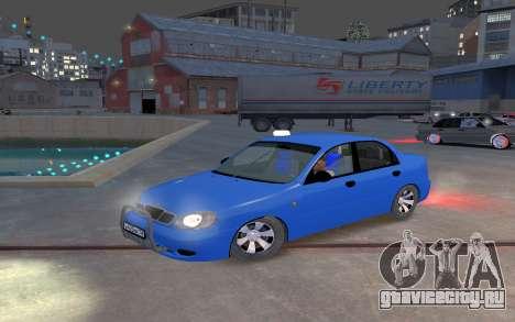 Daewoo Lanos Taxi для GTA 4