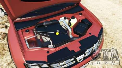 Dacia Duster 2014 для GTA 5 вид спереди справа