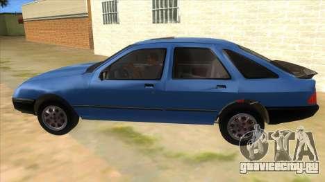 Ford Sierra 1.6 GL Updated для GTA San Andreas вид слева
