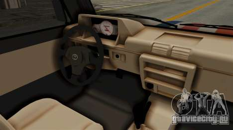 Toyota Kijang Miku Itasha Version для GTA San Andreas вид изнутри
