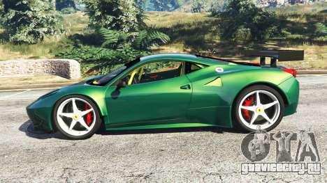 Ferrari 458 Italia GT2 для GTA 5 вид слева