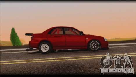 Subaru Impreza STi Drag Racing Unlim 500 для GTA San Andreas вид сзади