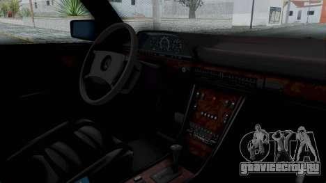 Mercedes-Benz 560SEL 1987 US-spec для GTA San Andreas вид справа