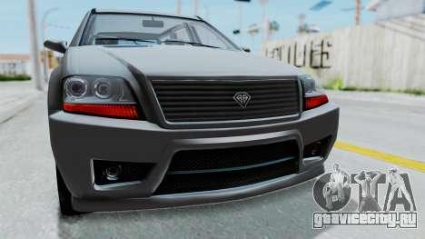 GTA 5 Benefactor Serrano IVF для GTA San Andreas вид изнутри
