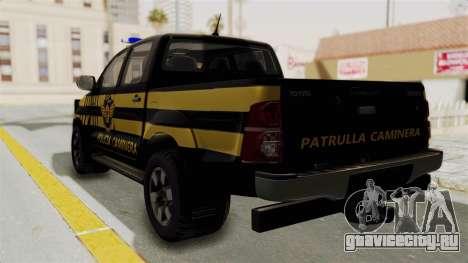 Toyota Hilux 2015 Patrulla Caminera Paraguaya для GTA San Andreas вид слева