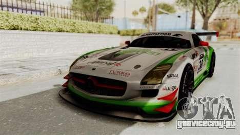 Mercedes-Benz SLS AMG GT3 PJ4 для GTA San Andreas вид сзади
