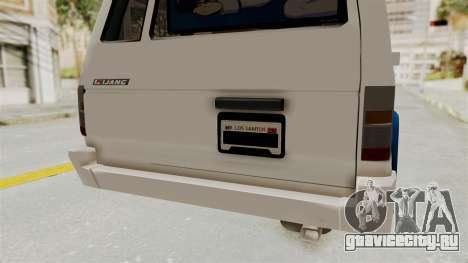 Toyota Kijang Miku Itasha Version для GTA San Andreas вид снизу