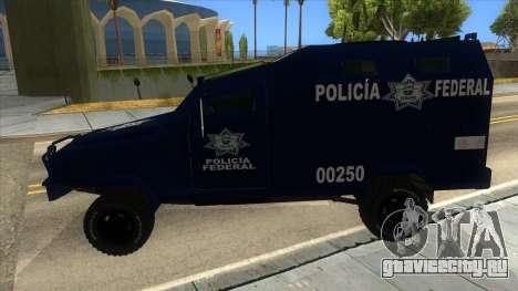 Black Scorpion Police для GTA San Andreas вид слева