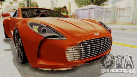Aston Martin One-77 2010 Autovista Interior для GTA San Andreas вид сверху