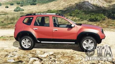 Dacia Duster 2014 для GTA 5 вид слева