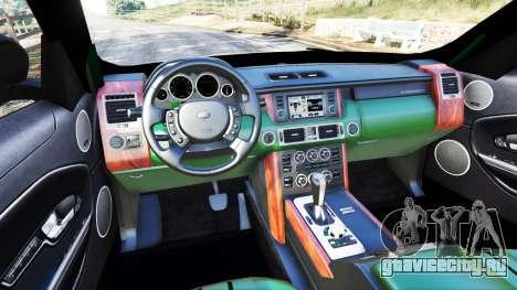 Range Rover Evoque для GTA 5 вид сзади справа