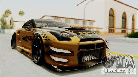 Nissan GT-R Fake Taxi для GTA San Andreas