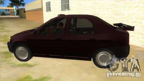 Dacia Logan Sport для GTA San Andreas вид слева