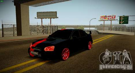 Subaru Impreza WRX STi Чёрная Бестия для GTA San Andreas вид сбоку