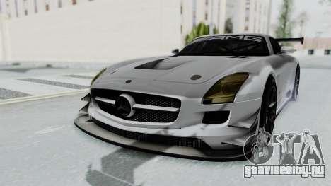 Mercedes-Benz SLS AMG GT3 PJ7 для GTA San Andreas вид сзади слева