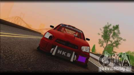 Subaru Impreza STi Drag Racing Unlim 500 для GTA San Andreas вид слева