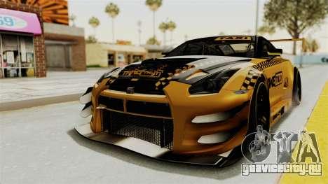 Nissan GT-R Fake Taxi для GTA San Andreas вид сзади слева