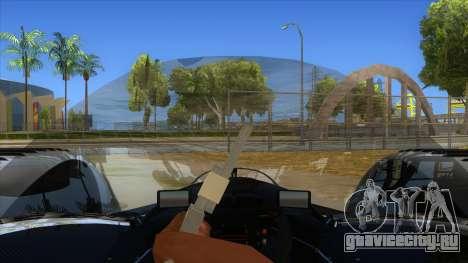 RedBull X2010 для GTA San Andreas вид изнутри