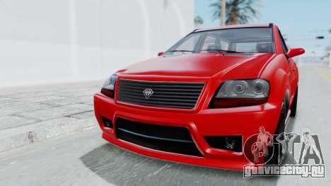GTA 5 Benefactor Serrano для GTA San Andreas вид слева
