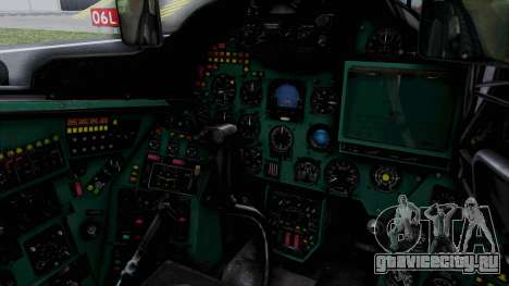 Mi-24V Soviet Air Force 0835 для GTA San Andreas вид изнутри