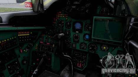 Mi-24V Soviet Air Force 0835 для GTA San Andreas вид изнутри