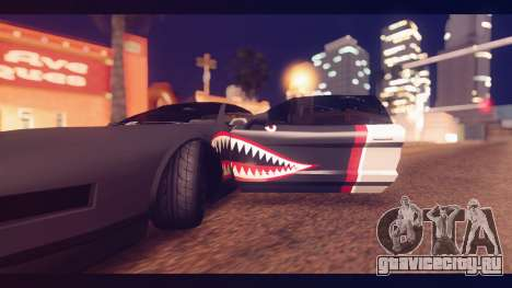 Infernus Shark Edition by ZveR v1 для GTA San Andreas вид сзади