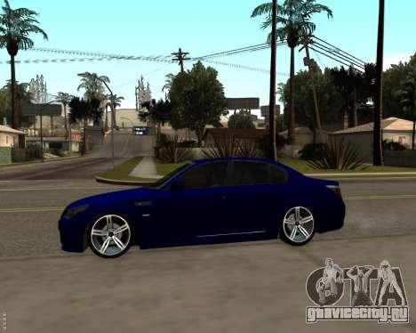 BMW M5 E60 v1.0 для GTA San Andreas вид сзади