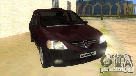 Dacia Logan Sport для GTA San Andreas вид сзади