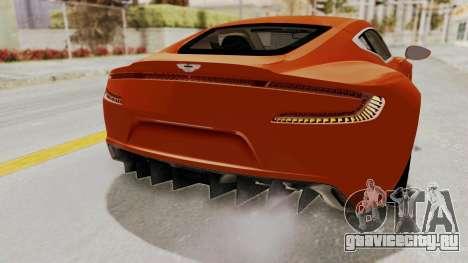 Aston Martin One-77 2010 Autovista Interior для GTA San Andreas вид изнутри