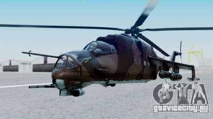 Mi-24V Soviet Air Force 0835 для GTA San Andreas
