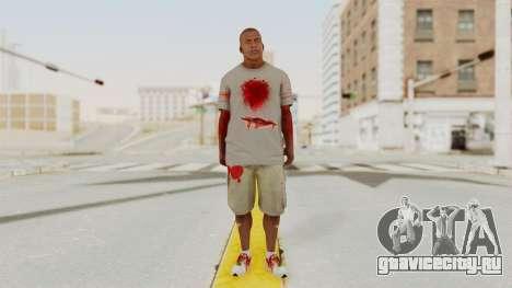 GTA 5 Franklin Zombie Skin для GTA San Andreas второй скриншот