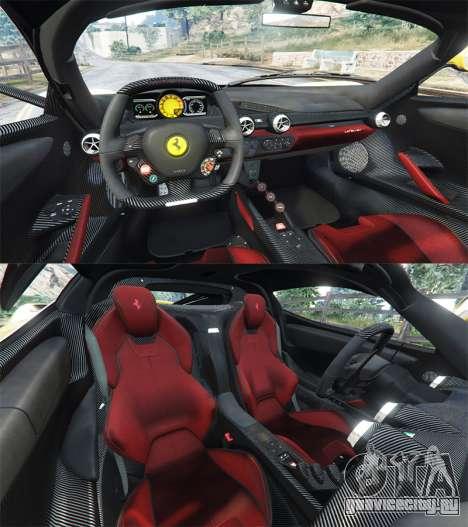 Ferrari LaFerrari для GTA 5 вид сзади справа