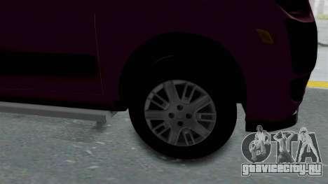 Fiat Doblo для GTA San Andreas вид сзади