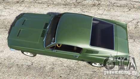 Ford Mustang 1968 для GTA 5 вид сзади слева