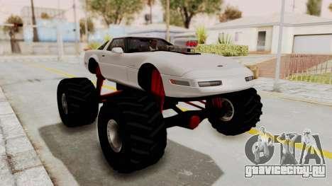 Chevrolet Corvette C4 Monster Truck для GTA San Andreas вид слева