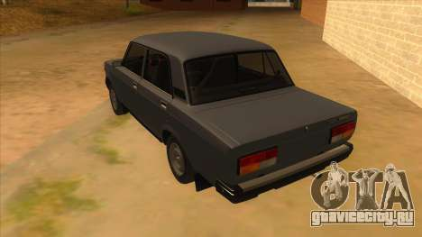 ВАЗ 2107 РОССИЯ для GTA San Andreas вид сзади слева