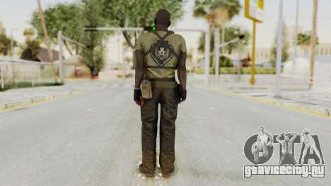 MGSV Phantom Pain RC Soldier T-shirt v2 для GTA San Andreas третий скриншот