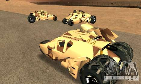 Army Tumbler Rocket Launcher from TDKR для GTA San Andreas вид изнутри