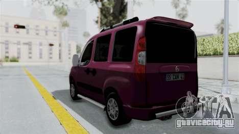 Fiat Doblo для GTA San Andreas вид слева