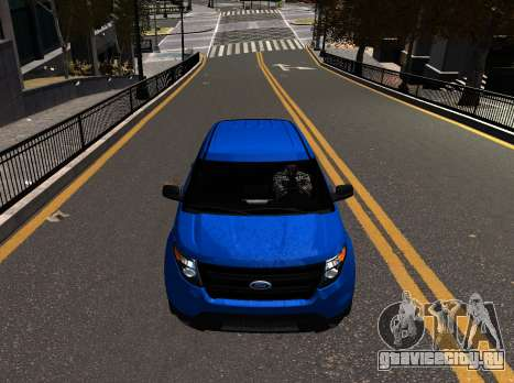 Ford Explorer 2013 для GTA 4 вид сзади слева