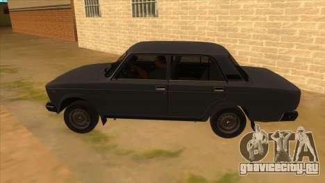 ВАЗ 2107 РОССИЯ для GTA San Andreas вид слева