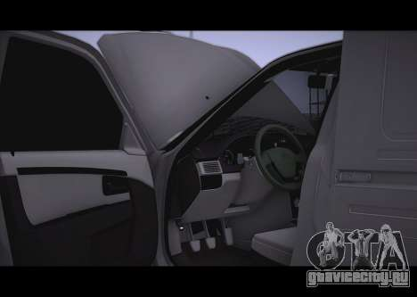 Lada Priora Stok Budka для GTA San Andreas вид сзади