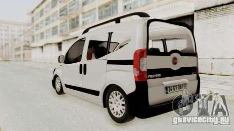 Fiat Fiorino 2014 для GTA San Andreas вид сзади слева