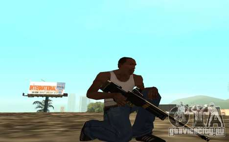 Golden weapon pack для GTA San Andreas седьмой скриншот