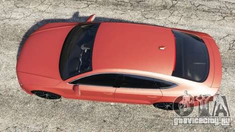 Audi A7 2015 для GTA 5 вид сзади