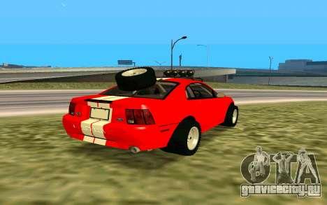 Ford Mustang 1999 для GTA San Andreas вид сзади