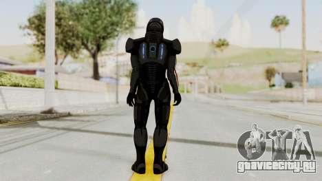 Mass Effect 2 Shepard Default N7 Armor Helmet для GTA San Andreas третий скриншот